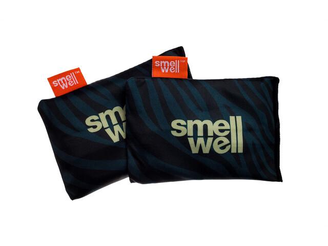 SmellWell Active Inserts Neutralisateurs D'Odeurs Pour Chaussures Et Équipement, black zebra